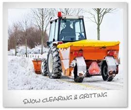 snow ploughing, clearing and gritting